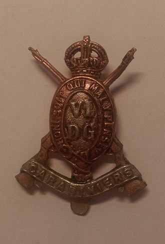 Carabiniers (6th Dragoon Guards) - Cap badge of the 6th Carabiniers