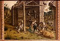 Carlo crivelli, madonna della rondine, post 1490, da s. francesco a matelica, predella 06 adorazione del bambino 1.jpg