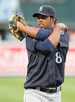 Carlos Peguero - Peguero during his tenure with the Seattle Mariners in 2011