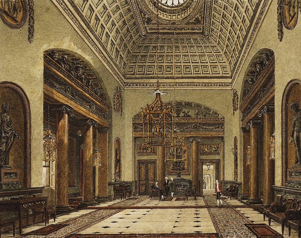 Карлтон-Хаус, Прихожая, Чарльз Уайлд, 1819 - royal coll 922171 313728 ORI 1.jpg