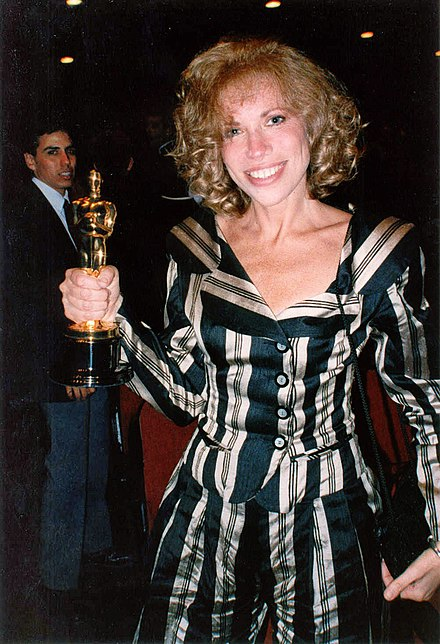 Simon at the 61st Academy Awards (March 1989). Carly Simon (1989).jpg