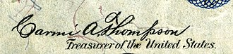 Carmi Thompson - Image: Carmi Alderman Thompson (Engraved Signature)