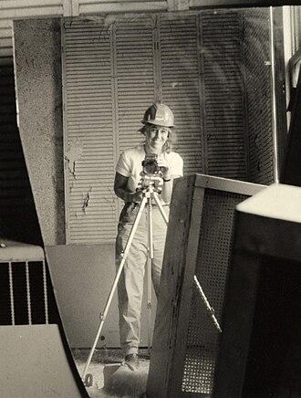 Carol M. Highsmith - Carol M. Highsmith self portrait in front of a broken mirror at the Willard Hotel in 1980