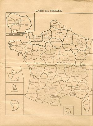 French constitutional referendum, 1969 - The regions, as intended by the reform