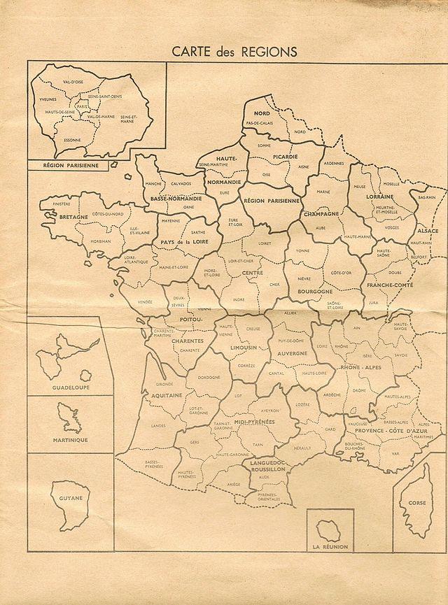 Frankreich Departements Karte.Region Frankreich Wikiwand