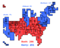 Cartogram of 2004 Electoral Vote.png
