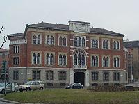 Milano: Casa di Riposo per Musicisti in Piazza Buonarroti, fondata da Giuseppe Verdi nel 1899.