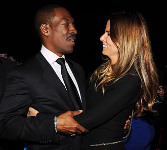 Casey Patterson - Patterson with Eddie Murphy in 2012.