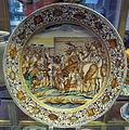Castelli, francesco grue, piatto con alessandro magno in india (da antonio tempesta), 1650-1700 ca..JPG
