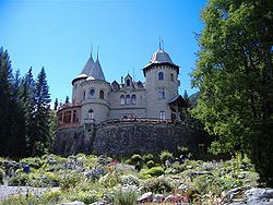 The Savoy castle in Gressoney-St. Jean