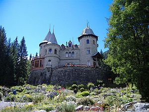 Gressoney-Saint-Jean - The Savoy castle in Gressoney-St. Jean