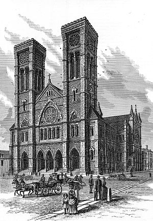 Cathedral of Saints Peter and Paul (Providence, Rhode Island) - Image: Cathedral of Sts. Peter and Paul, Providence 1886