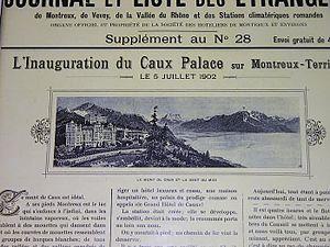 Caux Palace Hotel - Image: Caux Palace 1902