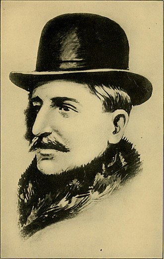 Bolo Pasha - Portrait of Bolo Pasche as depicted in Celebrated spies and famous mysteries of the great war (1919) by  George Barton.