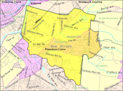 Census Bureau map of Plainsboro Township, New Jersey