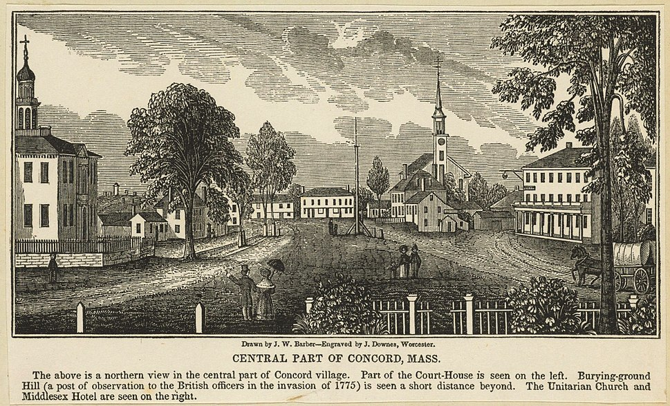 Central part of Concord, Mass
