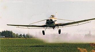 Cessna 188 - Cessna 188 AGWagon spraying at Canterbury, New Zealand, 1979