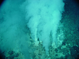 Hydrothermal vent A fissure in a planets surface from which geothermally heated water issues