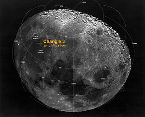 Mare Imbrium - The planned landing site for Chang'e 3 was Sinus Iridum. The actual landing took place on Mare Imbrium