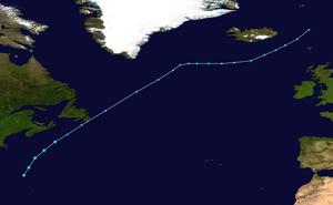 Tropical Storm Chantal (2007) - Image: Chantal 2007 track