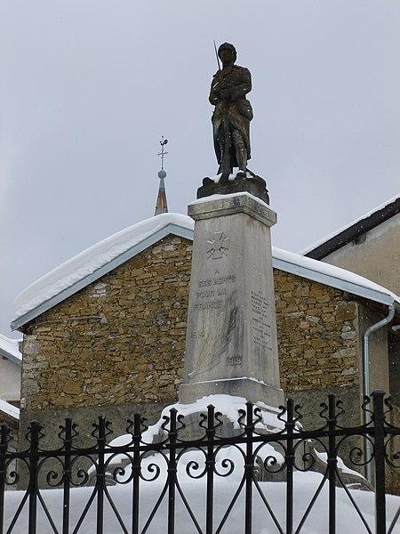 Monument aux morts de Charix, dans l'Ain
