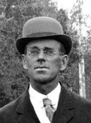 Charles Gustav Binderup - Portrait of Charles Binderup in 1911, extracted from a photo of the Minden, Nebraska Band