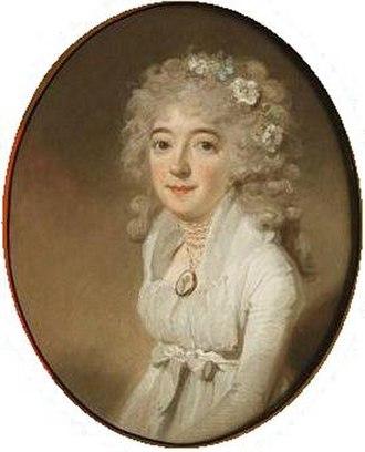 Catharina Cornelia Hodshon - Portrait of Catharina Hodshon by Charles Howard Hodges