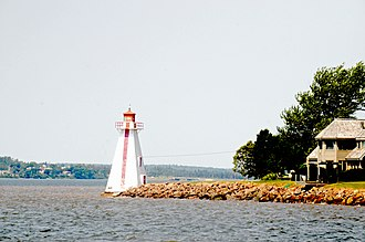 Charlottetown - Brighton Beach Range Front lighthouse in the neighbourhood of Brighton.
