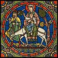 Chartres VITRAIL DE LA VIE DE JÉSUS-CHRIST Motiv 18 Le retour d'Égypte (la Sainte Famille).jpg
