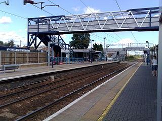Cheshunt railway station National Rail station in Hertfordshire, England