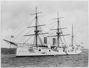 USS Chicago (1885) - USS Chicago (protected). Port bow