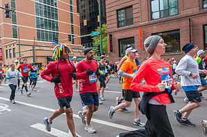 2012 Chicago Marathon - Fun runners at the 2012 race