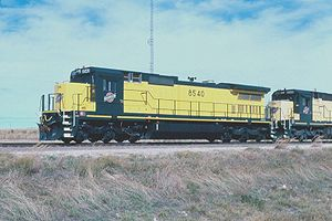 C&NW #8540 at Shawnee, Wyoming.