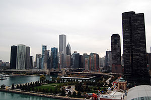 Chicago Skyline from the Navy Pier Ferris Wheel
