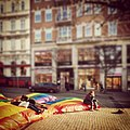 Chilling out on LGBT giant cushions in downtown Helsingborg.jpg