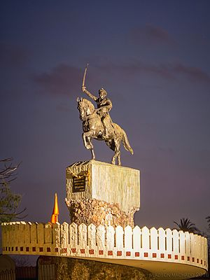 Fort Bassein - Statue of Chimaji Appa