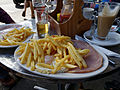 Chips with ham and egg at Epping Essex, England.jpg