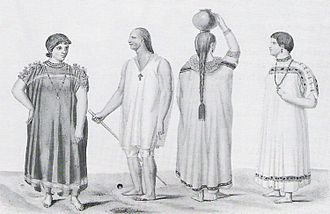 Converted Chiquitos Indians in a drawing by Alcide d'Orbigny from 1831 Chiquitos.jpg