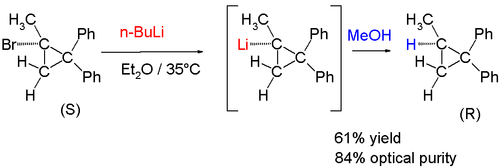 Optical Stability of 1-Methyl-2,2-diphenylcyclopropyllithium