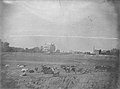 Chouteau's Pond after pond was drained, Henri Chouteau residence in background, herd of cows in foreground.jpg