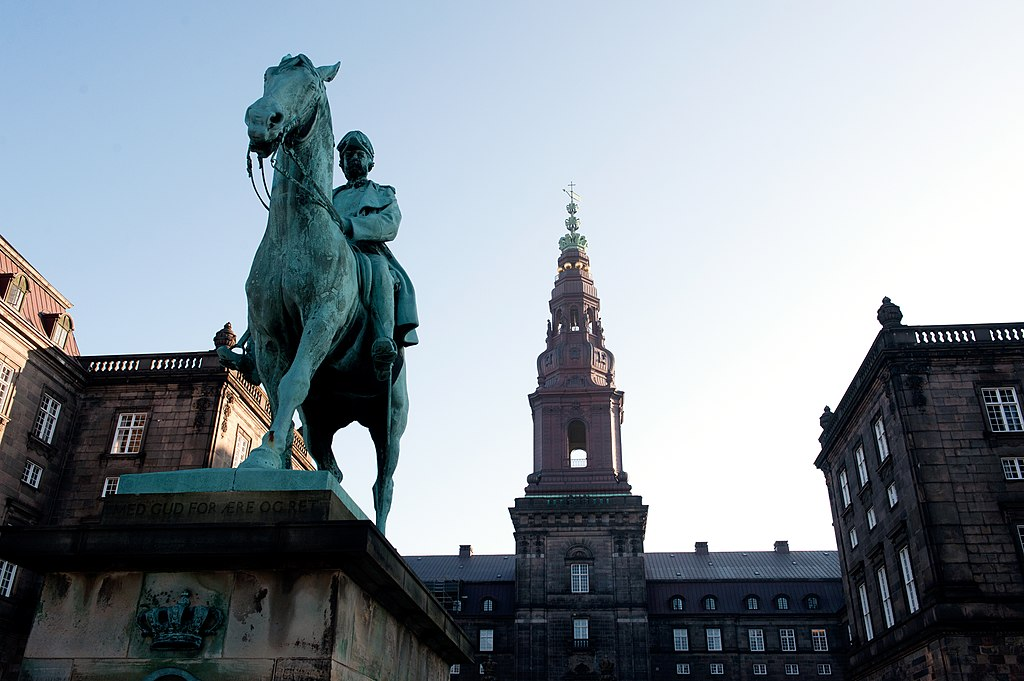 An equestrian statue