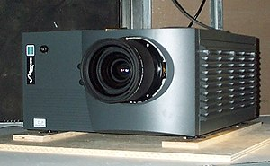 Television set - The Christie Mirage 5000, a 2001 DLP projector.