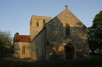 Kingsclere - Church of St. Mary, from the west, (May 2014).