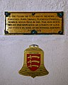 Church of St Andrew's, Boreham, Essex - John Lionel Tufnell-Tyrell and Chris Jaggard plaques.jpg
