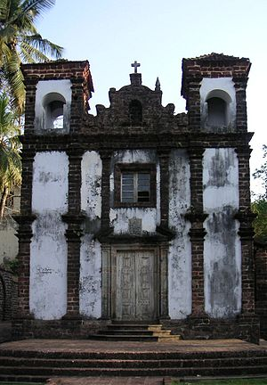 Christianity in Goa - Chapel of St. Catherine, built in Old Goa during the Portuguese occupation. It should not to be confused with the Cathedral of Santa Catarina, also in Old Goa.