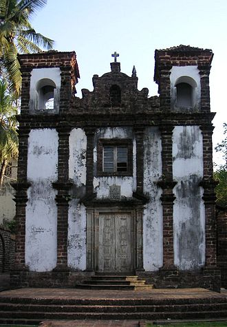 Christianization of Goa - Chapel of St. Catherine, built in Old Goa during the Portuguese occupation. It should not to be confused with the Cathedral of Santa Catarina, also in Old Goa.