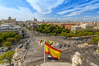 Plaza de Cibeles Square in Madrid, Spain