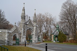 Mount Royal Cemetery cemetery on Mount Royal, borough of Outremont, Montreal, Quebec, Canada