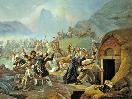 Circassian strike on a Russian military fort in Caucasus, 1840 CircassianCoastBattle.JPG