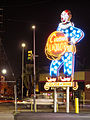 Circus Liquor clown sign at night 2015-08-17.jpg